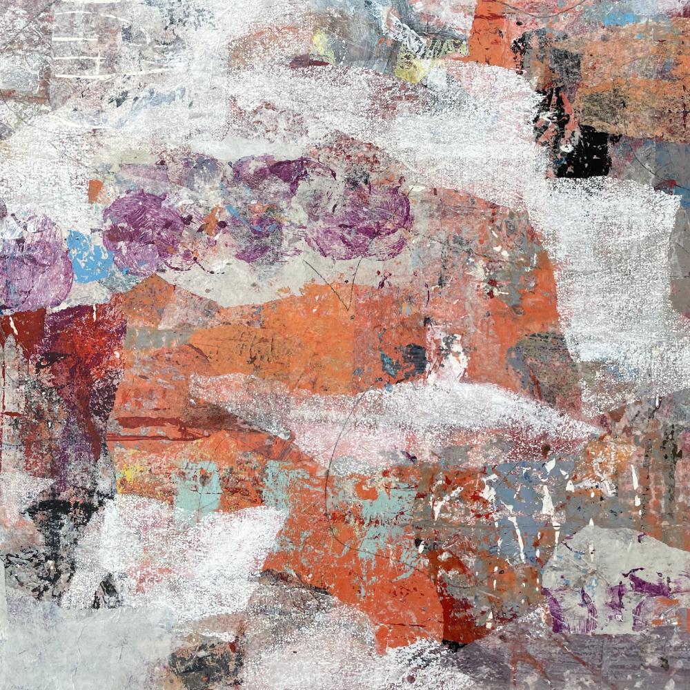 Abstract 7170 op aquarelpapier