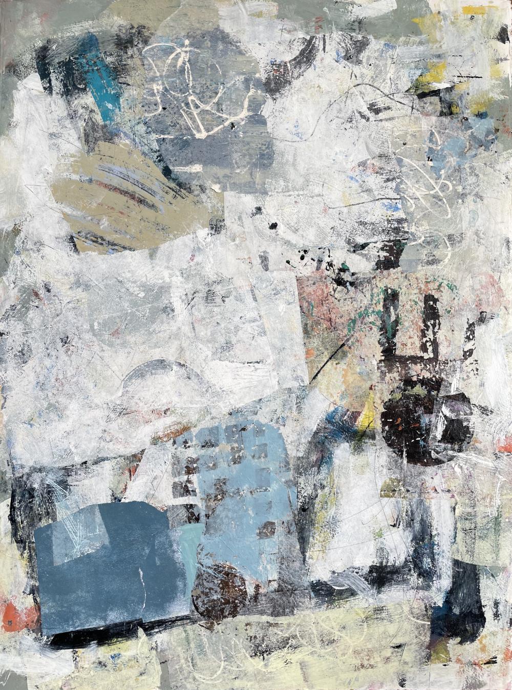 Abstract 7172 op aquarelpapier