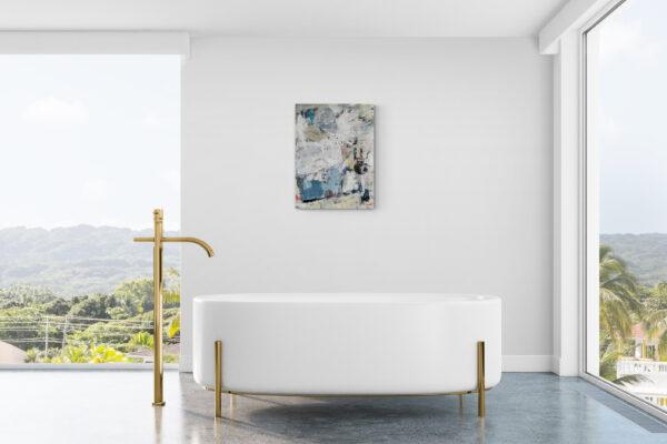 Abstract 7172 gepresenteerd aan de muur