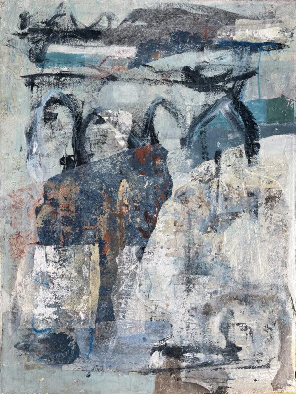 Abstract 7173 op aquarelpapier