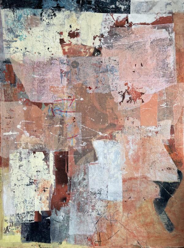 Abstract 7174 op aquarelpapier